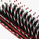 Hairbrush with tips and bristles