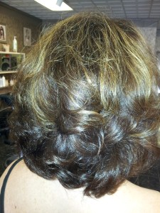 Casual Hair Style Back Close-up