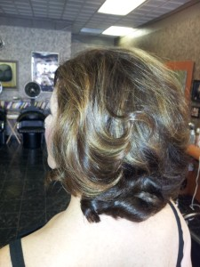 Casual Hair Style Back Profile